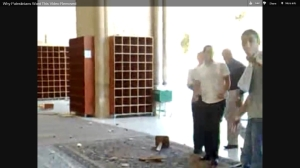 Muslim vandalism of Mosque on Temple Mount
