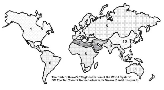 The Regionalization of the World as envisioned by the Club of Rome in 1974