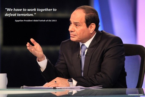 Abdel Sisi on joint military